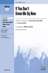 If You Don't Know Me by Now - SAB (SATB recording)