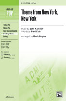 Theme from New York, New York - TTBB (SATB recording)